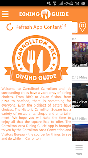 Carrollton Area Dining Guide- screenshot thumbnail