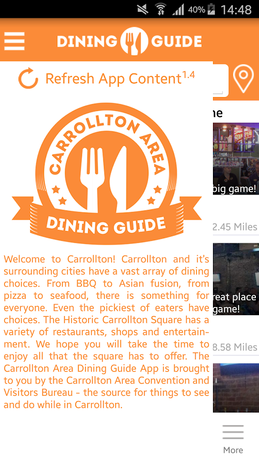 Carrollton Area Dining Guide- screenshot