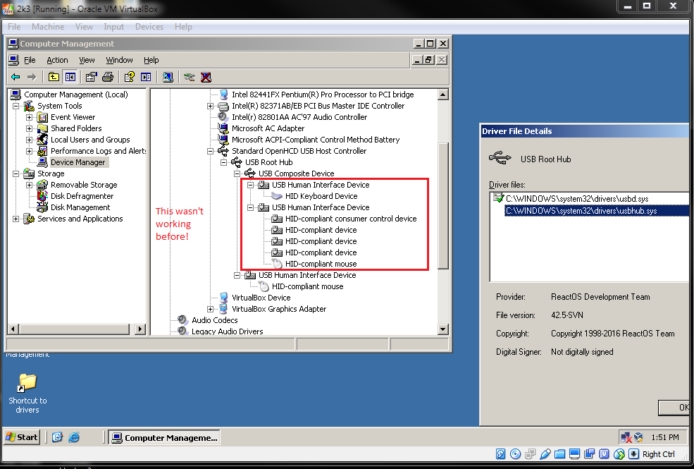 GSoC final report for USB project  | ReactOS Project