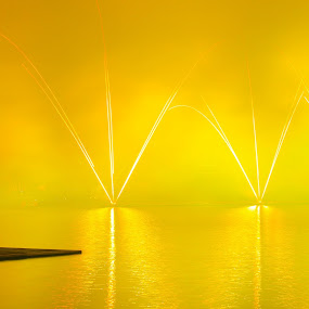 Work with Fireworks by William Cheng - Abstract Fire & Fireworks