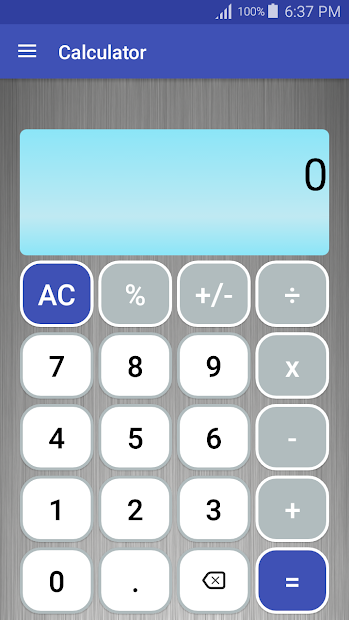 Calculator Android App Screenshot