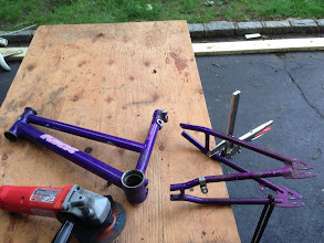 Photo: rear end removed from bike 1