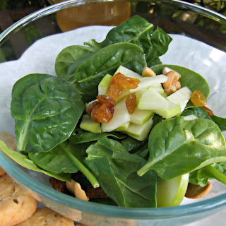 Baby Fresh Spinach and Apple Salad.