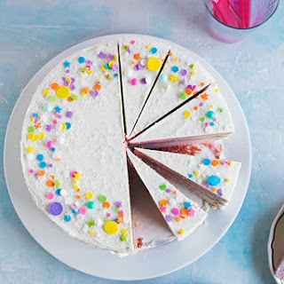 Rainbow Marble Layer Cake