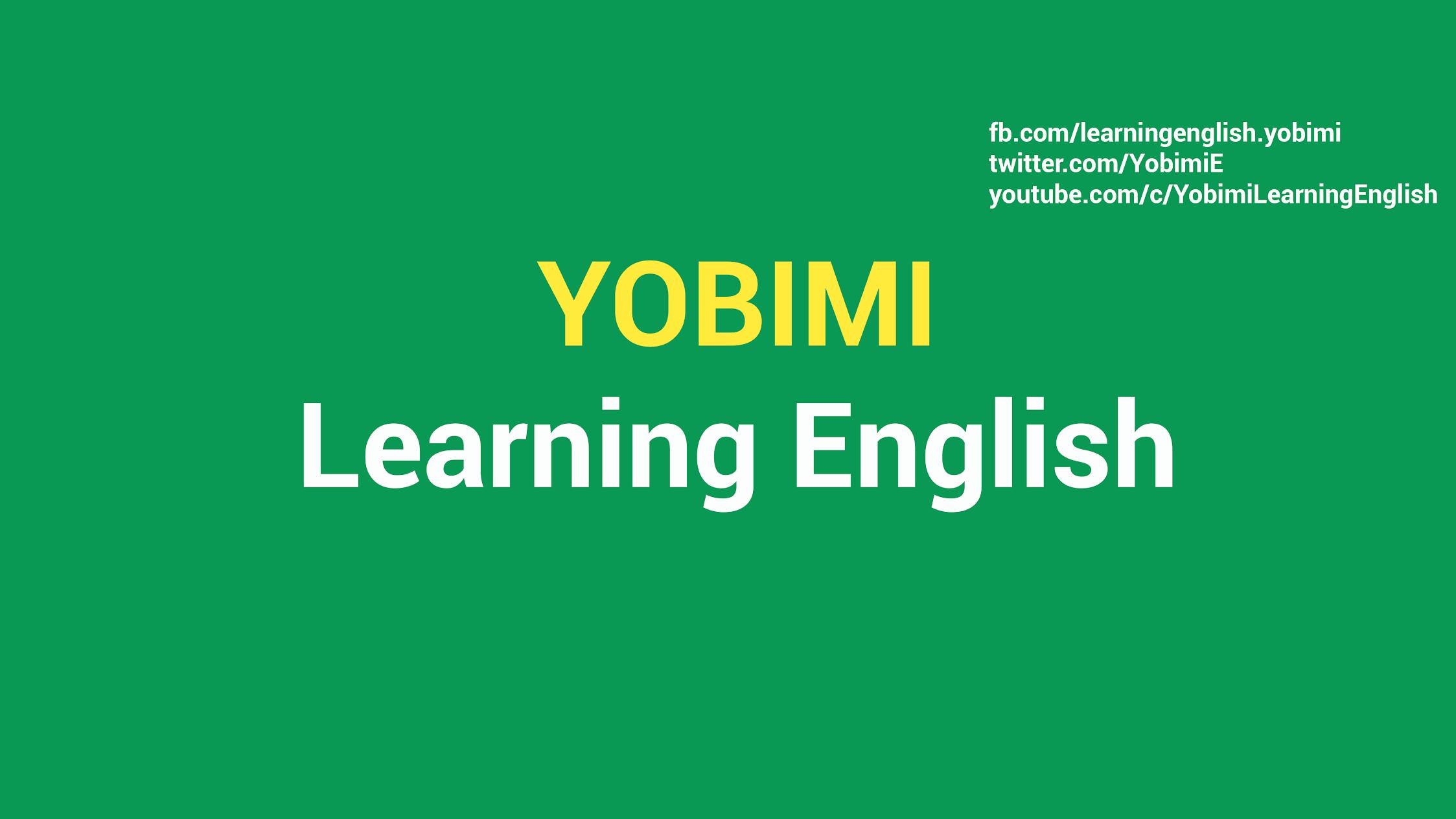 Yobimi Learning English Group