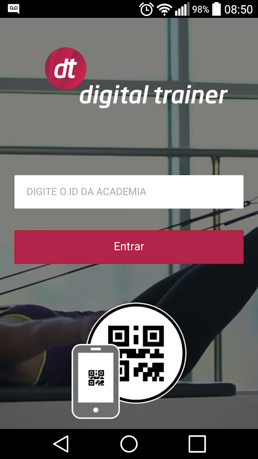 Digital Trainer– captura de ecrã