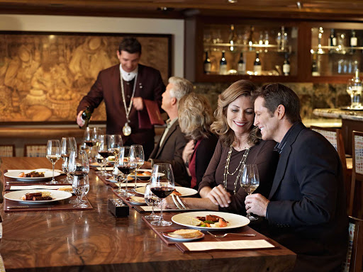 La Reserve by Wine Spectator offers seminars and vintage tastings to Oceania Cruises passengers for an additional fee.