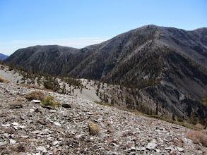 Photo: View south toward the Dawson's southwest ridge heading to the Dawson/Baldy saddle