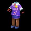 紫のビジネススーツ