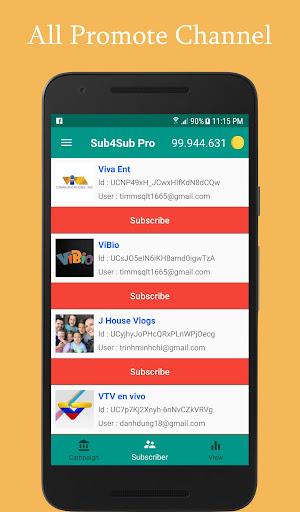 Sub4Sub Pro (No Ads)  screenshots 3