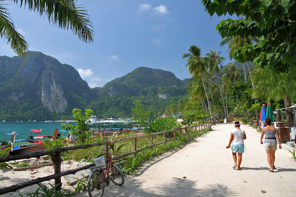 Take a stroll along the island path on Koh Phi Phi Don