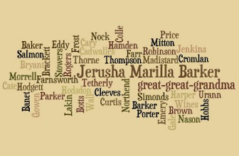 Photo: Wordle . . . Jerusha et al . . .