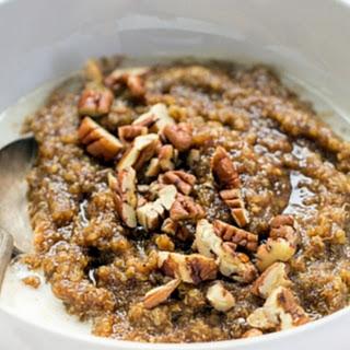 90-second Gingerbread Breakfast Quinoa.