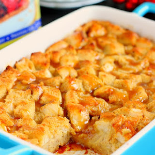 Caramel Eggnog French Toast Bake