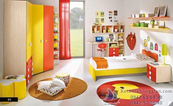 Thiết kế phòng ngủ bé trai theo phong thủy việt nam