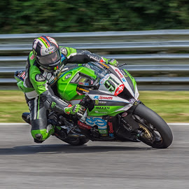 Into the corner by James Booth - Sports & Fitness Motorsports ( brands, motorbike, superbike, circuit, motorcycle )