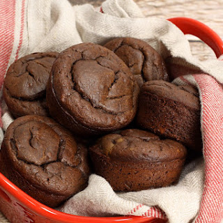 Chocolate Peanut Butter Banana Muffins.
