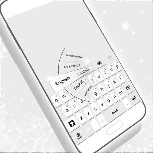 个人化のキーボードホワイト LOGO-記事Game