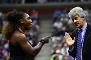 Serena Williams of the United States argues with referee Brian Earley during her Women's Singles finals match against Naomi Osaka of Japan on Day Thirteen of the 2018 US Open at the USTA Billie Jean King National Tennis Center on September 8, 2018 in the Flushing neighborhood of the Queens borough of New York City.