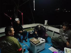 Photo: 前日から船に入って「プチ宴会」です!