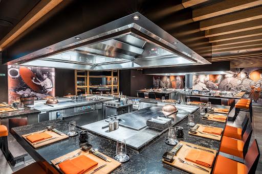 msc-seashore-Kaito-Teppanyaki.jpg - Head to the 64-seat specialty restaurant Kaito Teppanyaki on MSC Seashore for the largest selection of teppanyaki in the MSC fleet.