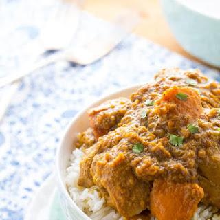 Slow Cooker Chicken Korma with Sweet Potato.