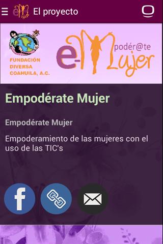 android Empodérate Mujer Screenshot 0