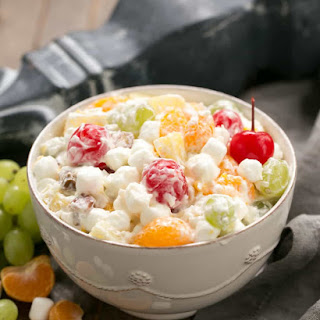 Best Ambrosia Salad {No Cool Whip} #SundaySupper.