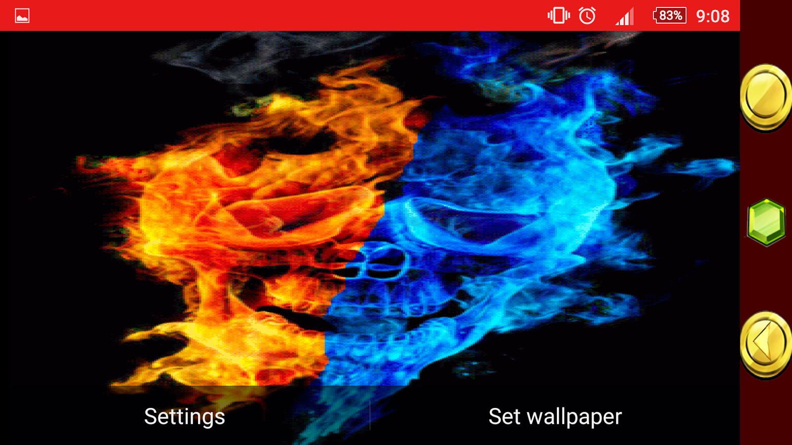fire and ice live wallpaper - android apps on google play