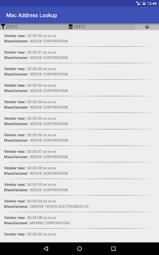 Mac Address Lookup by Logocomune (Google Play, United States