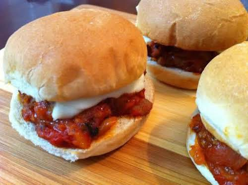 "Click Here for Recipe: Sloppy Giuseppe Sliders ""A twist on classic Sloppy..."