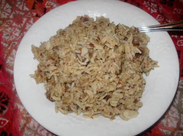 Sweet, Brown Jasmine Rice With Dates And Sliced Almonds. So Good !