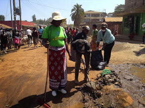Photo: Valentines Day 2015 Community Cleanup - with local businesses and schools all taking part - with support from a community fund in Gatina-Pesa
