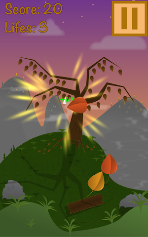 android Super Leaf Swiper 2D Screenshot 1
