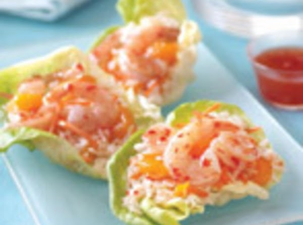 Serve in a lettuce - lined bowl or cup.     Top...