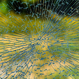 Broken Glass by Carmen-Laura B - Abstract Patterns ( broken, glass, color, pattern )