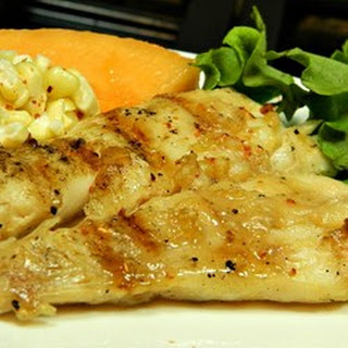 Barbeque Halibut Steaks.