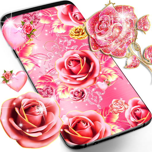 Pink Rose Gold Live Wallpaper Apps On Google Play