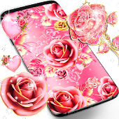 Pink rose gold live wallpaper APK download