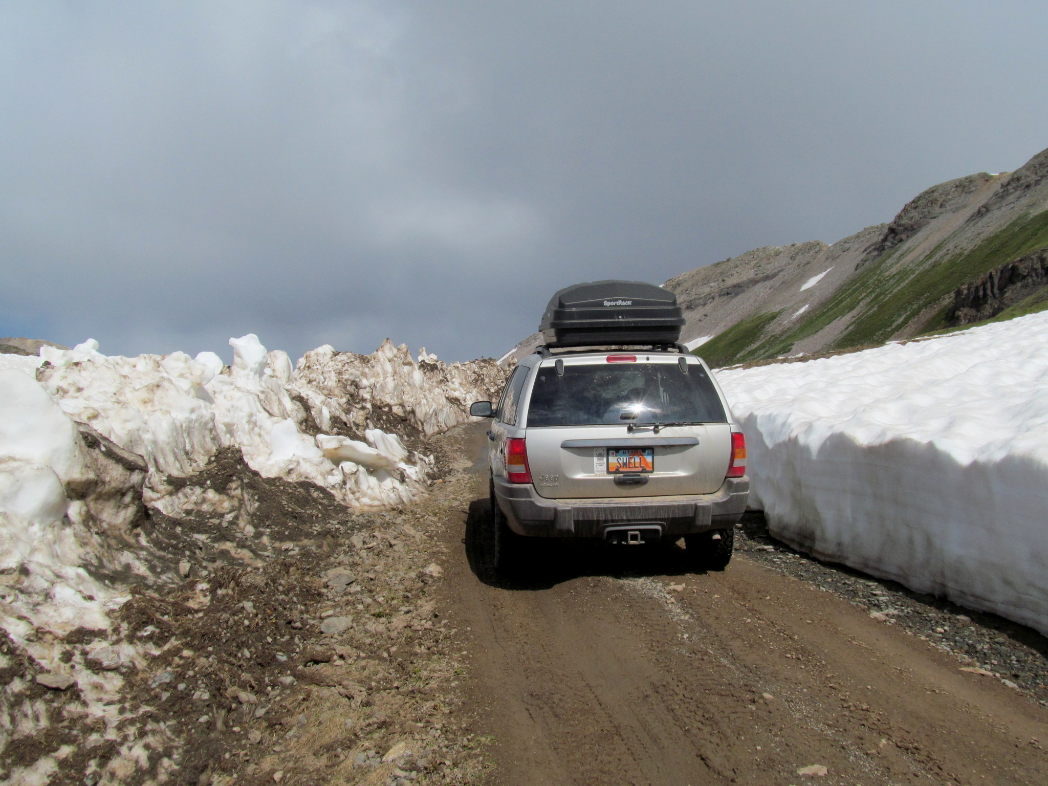 Photo: Crossing through a plowed snow drift