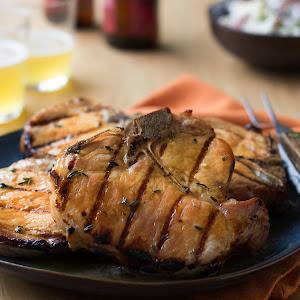 Cider-Brined Porterhouse Pork Chops