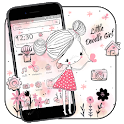 Little Doodle Girl Theme icon