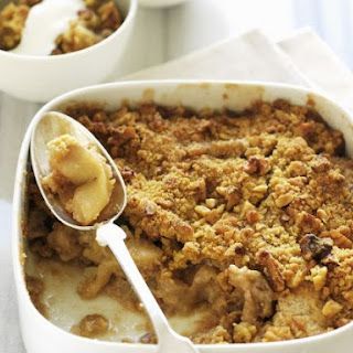 Gluten Free, Sugar Free, Dairy Free Apple and Nut Crumble.