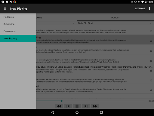 Metapod - Podcast Manager app for Android screenshot