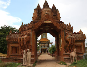 Photo: Year 2 Day 39 - Entrance to Wat in Moung Ruessie