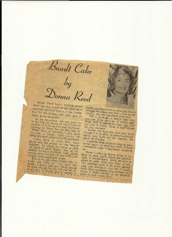 Bundt Cake By Donna Reed Recipe