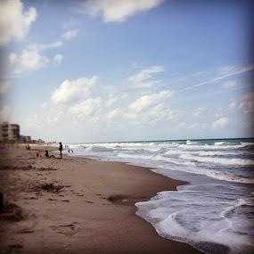 Beach Day by Tyler Landgraf - Instagram & Mobile Instagram ( sand, melbourne, florida, ocean, beach )