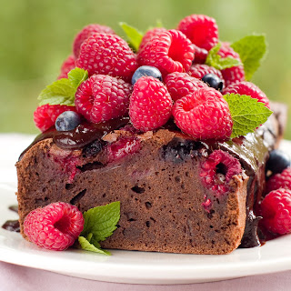 Chocolate Berry Loaf Cake