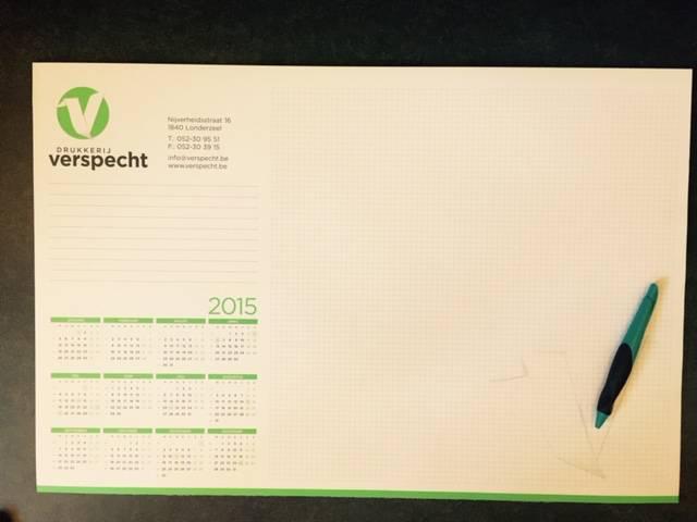 Kalenders en bureauonderleggers