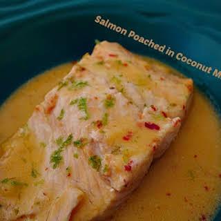 Salmon Poached in Coconut Milk.